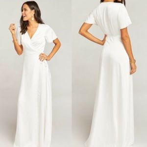 Show Me Your Mumu Weddings Noelle Wrap Dress